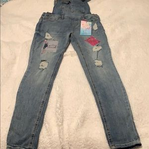 NWT almost famous overalls